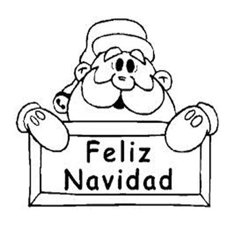imagenes de navidad para xat dibujo colorear navidad papa noel con cartel