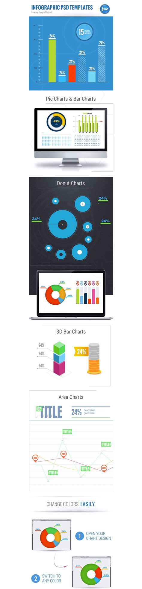 25 Best Free Infographic Elements 187 Css Author Infographic Template Psd