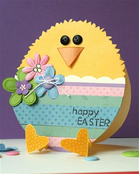 Handmade Easter Cards - handmade easter card shaped like an egg paper