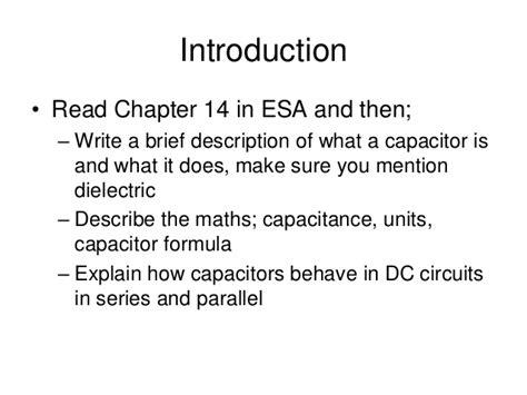 capacitor equation units capacitors