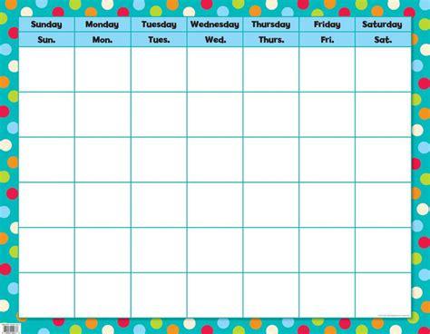 Calendar Chart Dots On Turquoise Calendar Chart Ctp0977