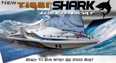 Racing Boat Radio Tiger Shark 40 quot nitro gas rc tiger shark racing boat r c sports ship radio remote 60mph craft
