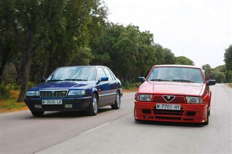 volante alfa 75 lancia thema 8 32 vs alfa romeo 75 1 8 turbo evoluzione