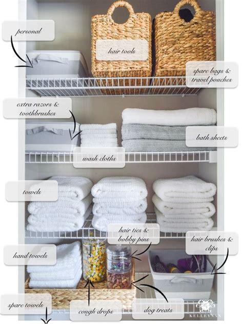 bathroom linen storage ideas organized bathroom linen closet anyone can have kelley