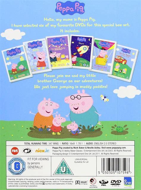 dvd format pal region 2 peppa pig 6 disc dvd pal region 2 box set new sealed