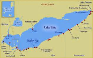 lake erie map canada lake erie region