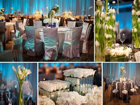 Blue And White Wedding Reception Decorations by Blue And White Wedding Reception Centerpieces And Decor