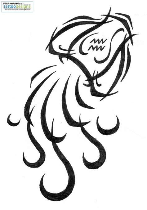 tribal zodiac tattoo designs aquarius tattoos and designs page 7