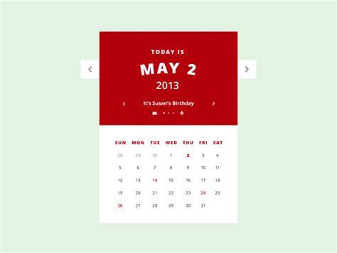 Calendar Gif Calendar Ui Gif Psd By Amit Jakhu Dribbble