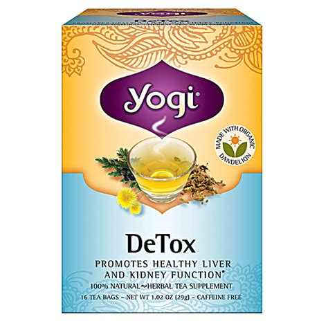 Dandelion Detox Tea Yogi With Ssri by Yogi Detox Tea Bags 16s Naturally Organic