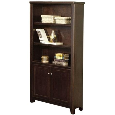 safco workspace seven shelf 12w x 84h baby bookcase in walnut