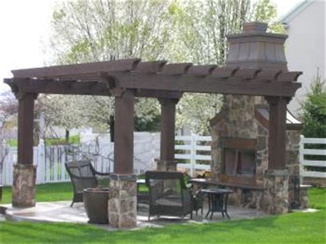 Pergola With Fireplace by Outdoor Pergola With Fireplace Pictures And Photos