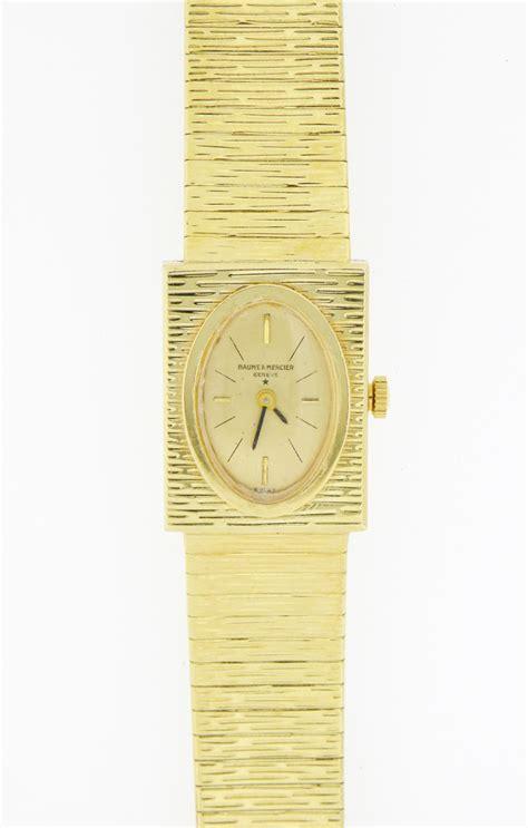 baume et mercier 14k gold vintage bracelet ebay