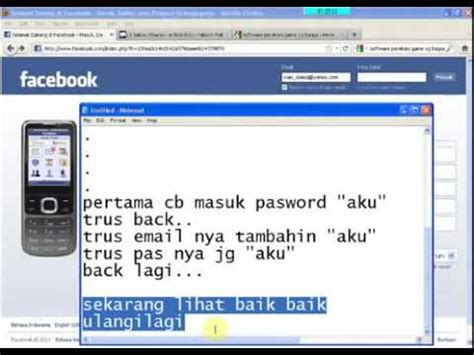 tutorial hack fb tanpa software cara hacker fb tanpa software 100 uh youtube