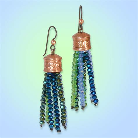 how to make a beaded tassel gemstone tassel earrings make jewelry