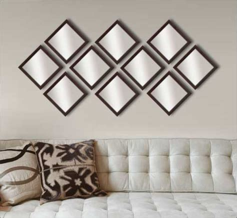 Decorative Mirror Sets by 10 Decorative Mirrors In Brown Frame Framed Canvas
