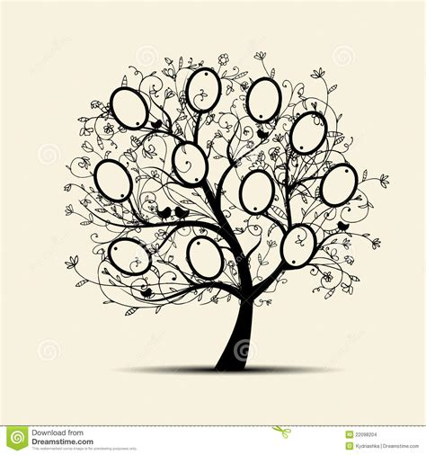 Family Tree Design Insert Your Photos Into Frames Stock Vector Illustration Of Page Album At Family Tree For Your Design