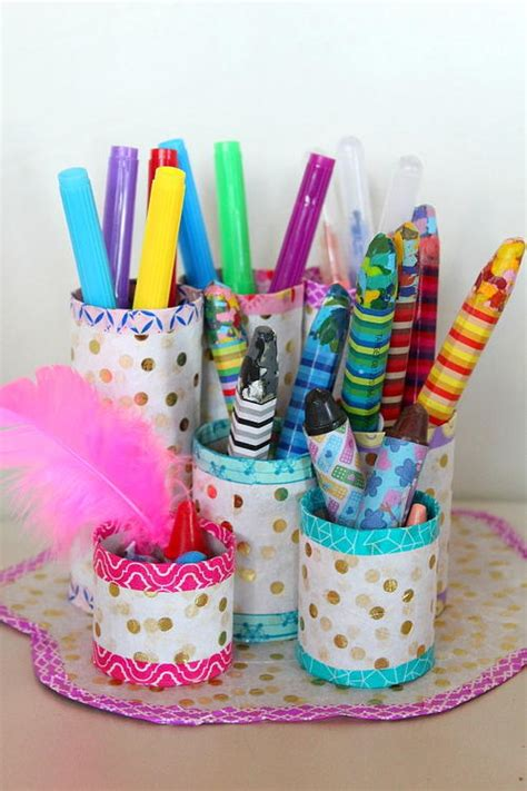 How To Make A Paper Pencil Holder - thrifty diy pencil holder favecrafts
