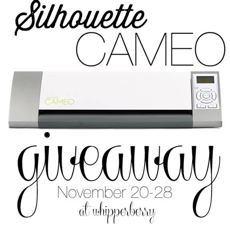 pre black friday silhouette cameo giveaway whipperberry - Silhouette Cameo Giveaway