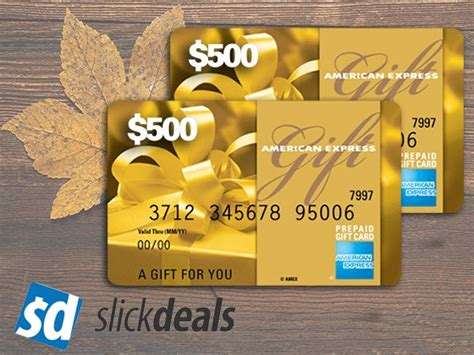 Slickdeals Sweepstakes - win a 500 amex gift card from slickdeals in touch weekly