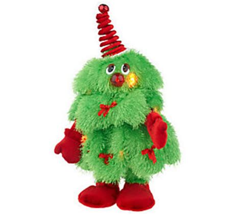 dancing christmas tree picture singing plush tree qvc