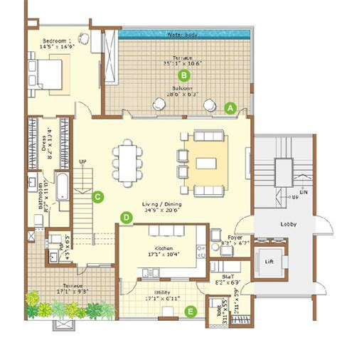 embassy floor plan embassy grove villaments kodihalli embassy group