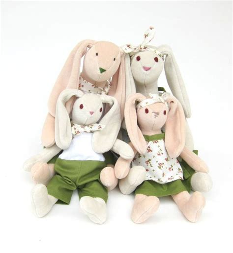 rabbit pattern clothes instant download bunny family pdf pattern and sewing