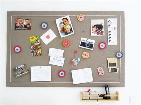 pinnwand ideen pinwand aus alter pappe und stoff upcycling
