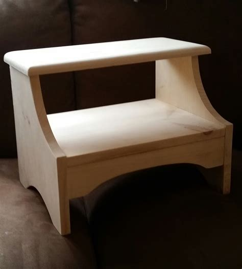 buy a crafted pine bedside step stool made to