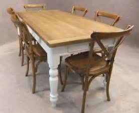 Farmhouse Kitchen Table With Drawers Oak And Pine Country Farmhouse Kitchen Table With Painted Base And Drawer 8ft Ebay