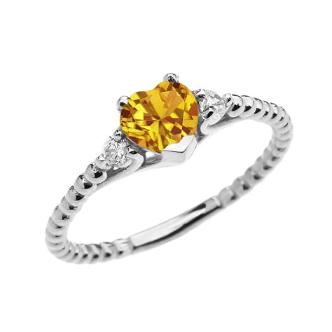 gold silver jewellery 0 6ct citrine