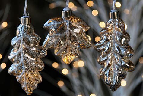 mercury glass string lights silver mercury glass string lights leaf design battery