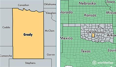 Grady County Records Grady County Oklahoma Map