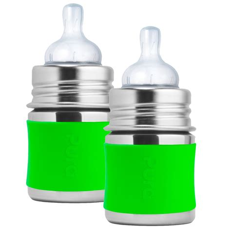 Pura Stainless Steel Infant Bottle 11oz325ml With Xl Sipper Mura pura stainless steel infant bottle with