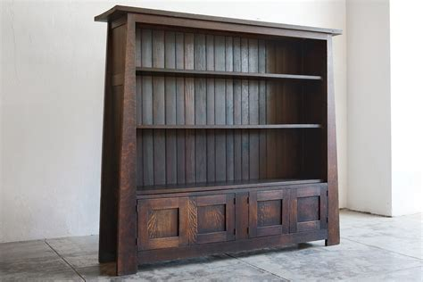 mission style bookcase design doherty house