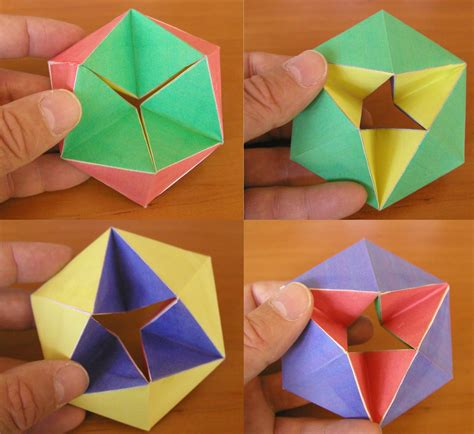 How To Make Origami Figures - chapter 9 mathematics the kaleidocycle a fascinating
