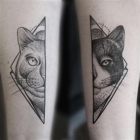 geometric cat tattoo best 25 geometric animal ideas on