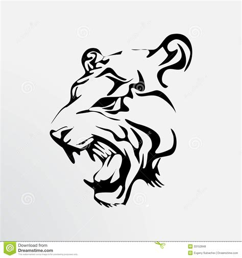 tattoo of a tiger stock vector illustration of animals