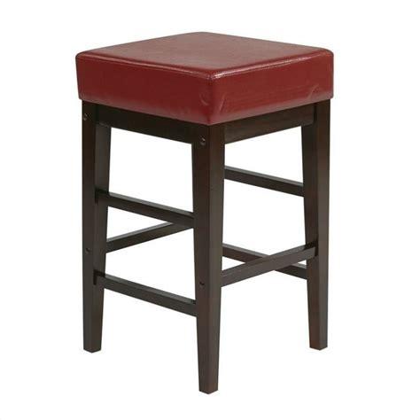 office star metro bar stool met2824 es 25 quot square stool in red es25 30vs3rd