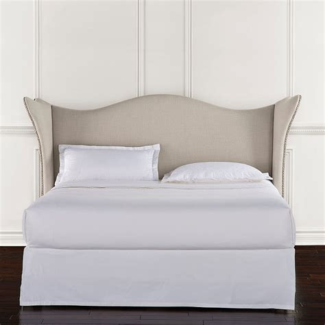 frontgate beds charcoal upholstered bed headboard frontgate
