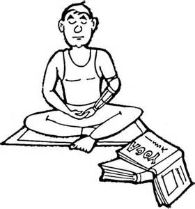 meditation coloring page supercoloring com