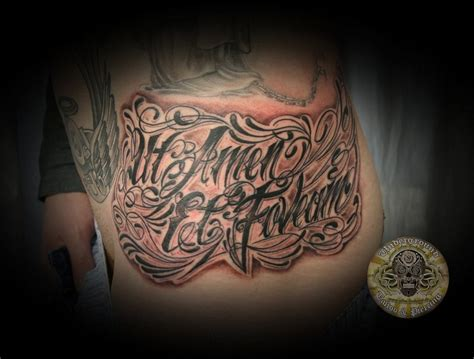 tatoo lettre latin chicano script latin tattoo by 2face tattoo on deviantart