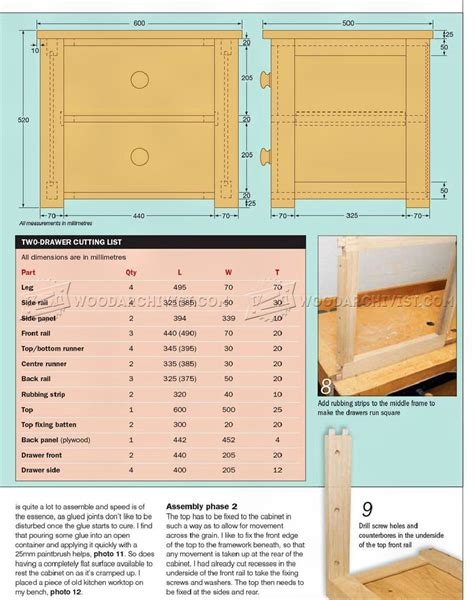 10 drawer dresser plans two drawer chest plans woodarchivist