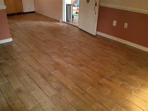 Floor Installation Photos: Wood Look Porcelain Tile in