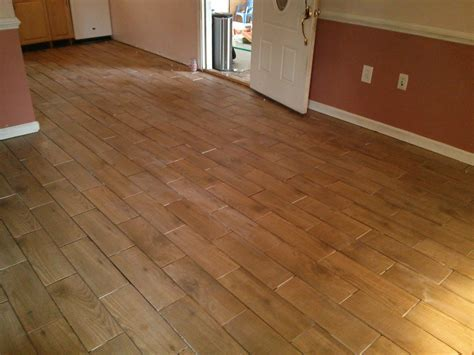 Floor Installation Photos: Wood Look Porcelain Tile in