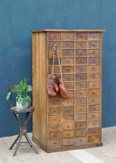oak vintage multi drawer cabinet   drawers home