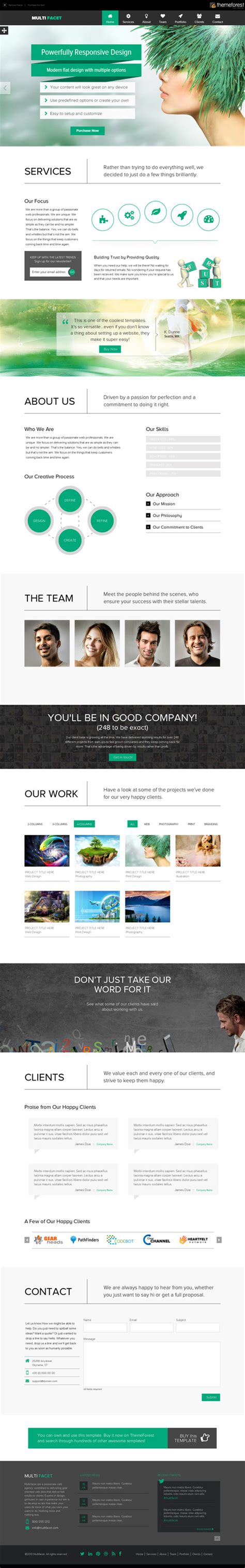 one page template responsive one page templates permium collection