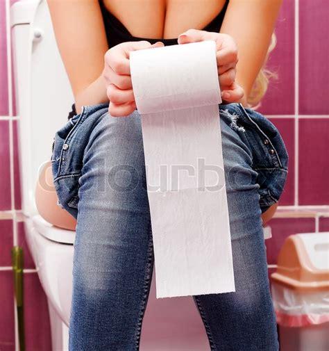 Potty Seat Ring Closet Dudukan Closet Toilet Non Handle 1 in the toilet stock photo colourbox