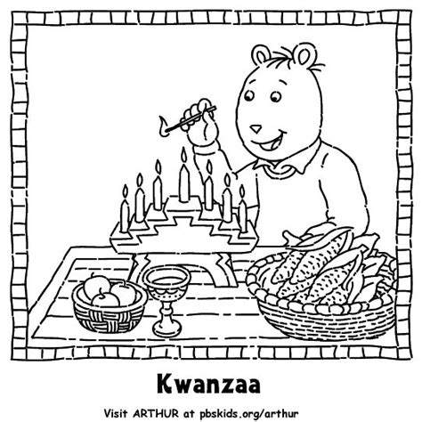 coloring page kwanzaa in the classroom pinterest