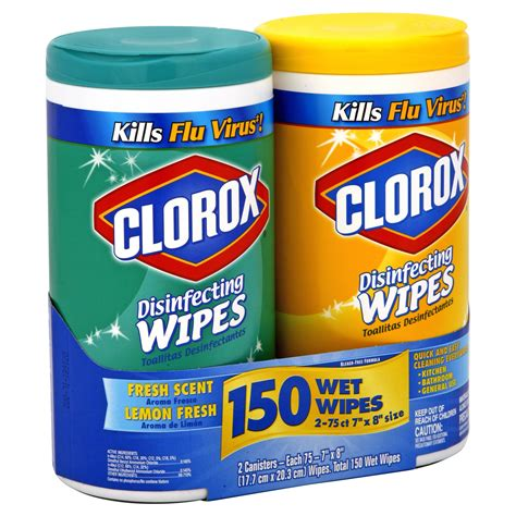 clorox disinfecting wipes fresh scent lemon fresh  canisters